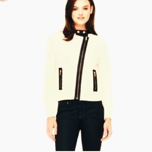 CLUB MONACO Amalia cable sweater jacket